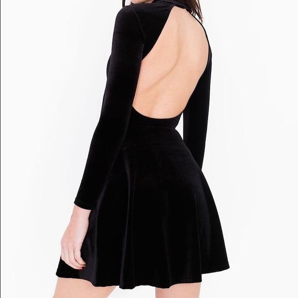 3749c2903f American Apparel Dresses   Skirts - American Apparel backless velvet skater  dress